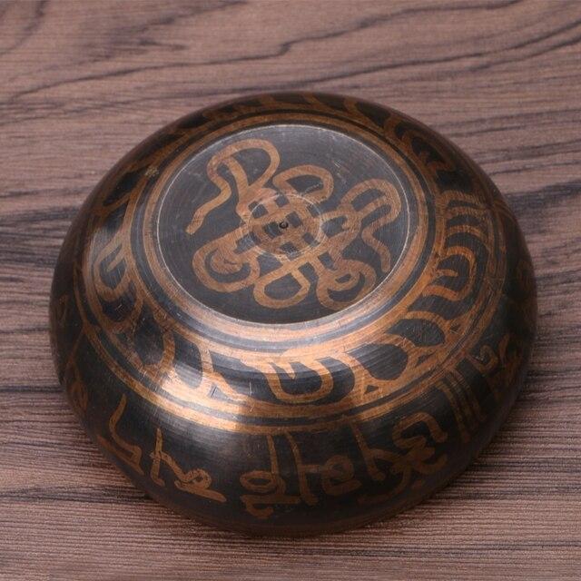 Buddhism Tibetan Singing Bowl Hand Hammered Yoga Copper Chakra Meditation Gift Relax Soothing Sound