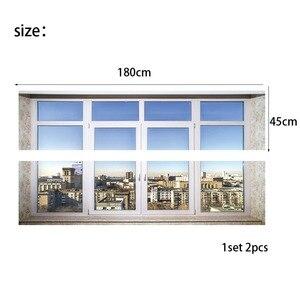 Image 4 - Stadt stadt Sinn Bett Kopf Aufkleber Gefälschte Weiß Glas Fenster Wand Aufkleber Kreative Kunst Wand Aufkleber Kunst Wand Aufkleber Hause decor