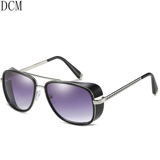 2b4d9112ac0 Iron Man 3 Tony Stark Sunglasses for Men Super Soldier Gothic Glasses Male  Steampunk Goggles Sun