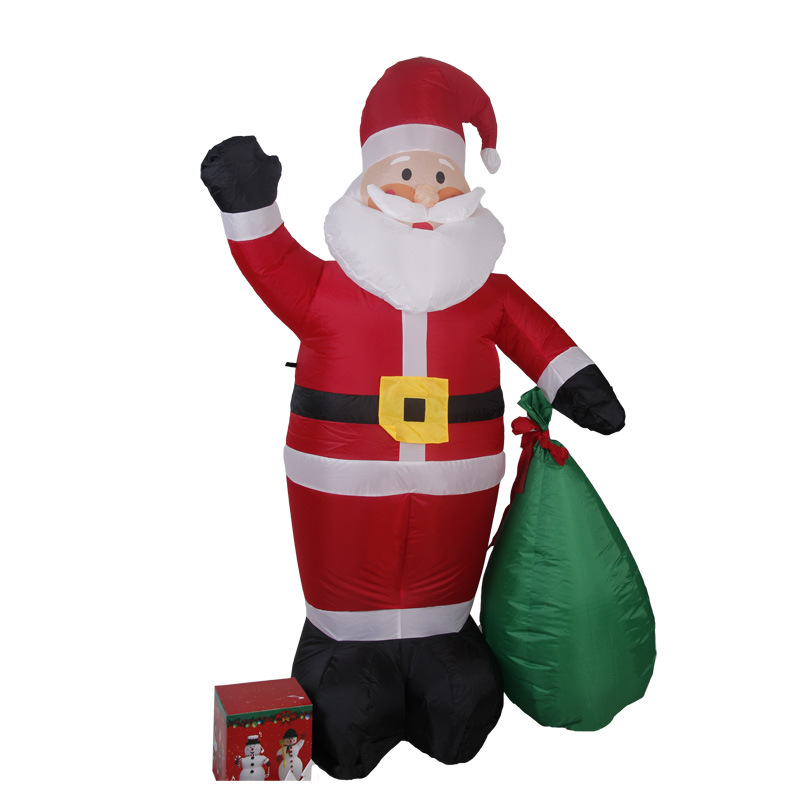 180cm Giant Santa Claus with Gift Boxes LED Luminous Inflatable Toys Christmas Birthday Wedding Party Props Yard Decoration