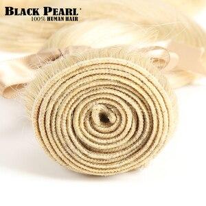 Image 4 - Zwarte Parel Braziliaanse Hair Weave Bundels Golvend Remy Human Hair 613 Bundels Hair Extensions 100g Blonde Bundels Body Wave