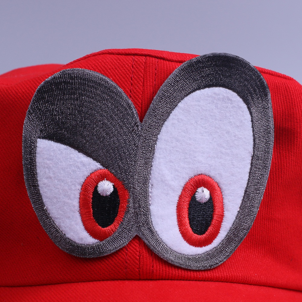 Game Super Mario Odyssey Cap Cosplay Red Mario Hat Adult Kids Anime Handmade New5