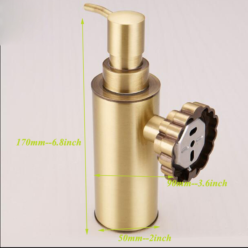 POIQIHY Liquid Soap Dispenser Wall Mounted Soap Dispenser Carving Antique  Bronze Finish Brass Material Bathroom Accessories In Soap Dishes From Home  ...
