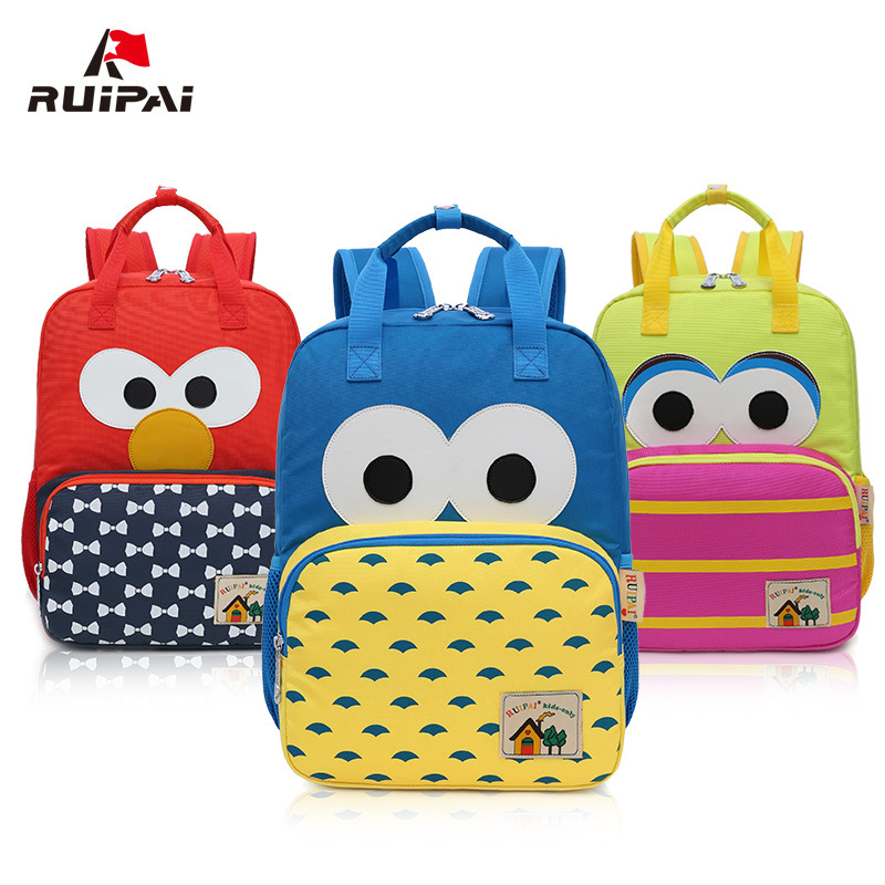 RUIPAI Children Backpack Cute Cartoon Pattern Girls Boys Back Pack School Bookbag for Primary Students Leisure Lightweight Bags