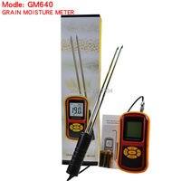 באיכות גבוהה דיגיטלי גרגרים מד לחות עם מדידת Probe Tester עבור תירס חיטה מדדי לחות GM640 שעועית אורז חיטה