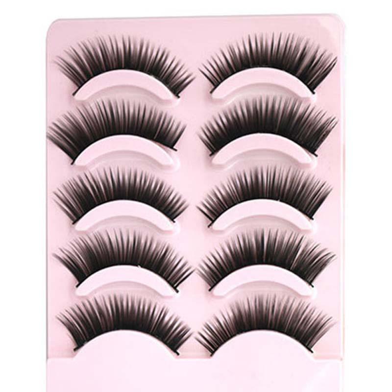 5 Pairlot Natural Eyelash Extension Handmade Long Thick False