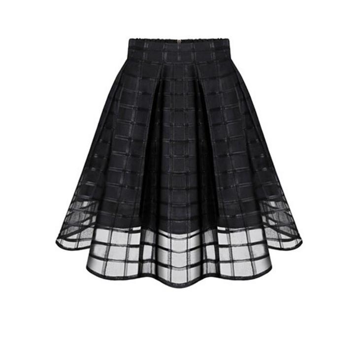 Free Ostrich Women Bodycon Vintage Stretchy Skirts hip skirt stretch Slim thin Skirts High Waist Zipper Ladies Tulle Skirt D0935