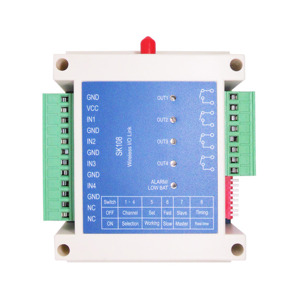 Image 3 - 2pcs/lot Long distance 2 miles 4 channels 433MHz Radio Control Switch SK108 for Smart Irrigation Control System-in Fixed Wireless Terminals from Cellphones & Telecommunications