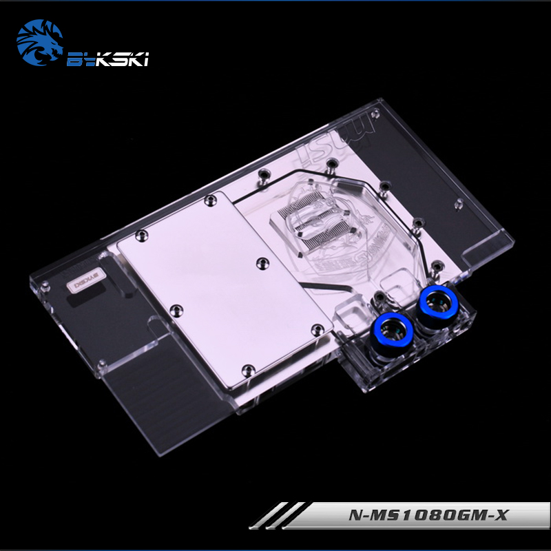 Image 4 - Bykski water Cooling block fit MSI Geforce GTX 1080 Gaming X 8G/ARMOR 8G,1070TI/1070/1060 Gaming,GPU Block,N MS1080GM X-in Fans & Cooling from Computer & Office