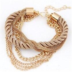 Minhin moda corda corrente decoração pulseira para menina seis cores venda quente pulseira para festa de verão acessório especial