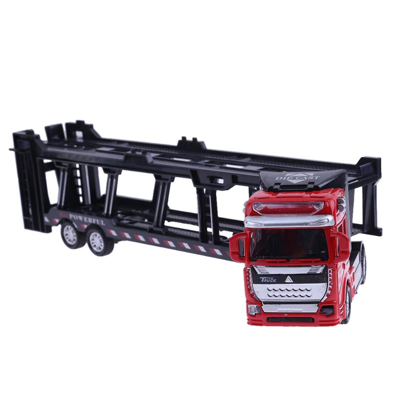 1:48 Alloy Transport Truck Alloy Vehicles Model Pull Back Simulation Toy Alloy Diecast C ...