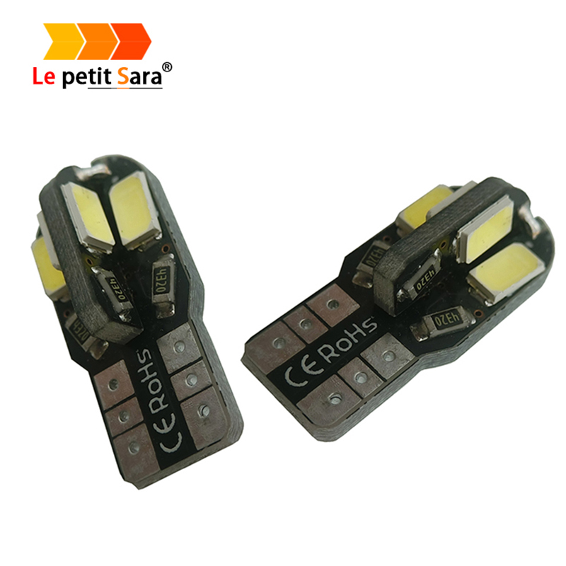 1PCS led Car Interior Bulb Canbus Error Free T10 White 5730 8SMD LED 12V Car Side Wedge Light White Lamp Auto Bulb Car Styling wholesale taxi led light auto indicator lamp vehicles car windscreen cab sign white led taxi lamp 12v car styling free shipping