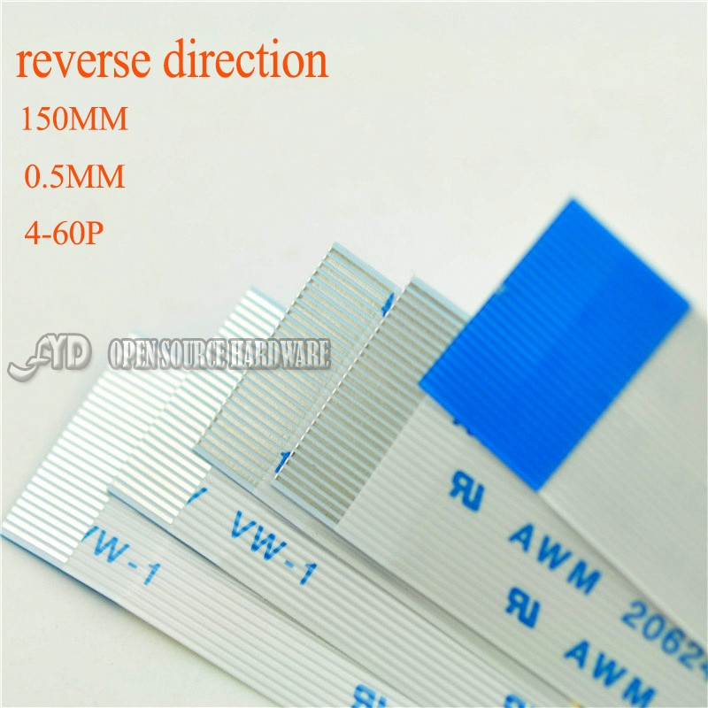 Reverse Direction 0.5MM 150mm 4-60PIN FFC TTL Cable Length  Insulation Material 5pcs/lot