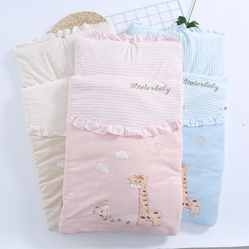 Baby Cotton Breathable Sleeping Bag Baby Cartoon Pattern Wrap Baby Multi-purpose Hug Is Sleeping Bag Baby Sleeping Bag