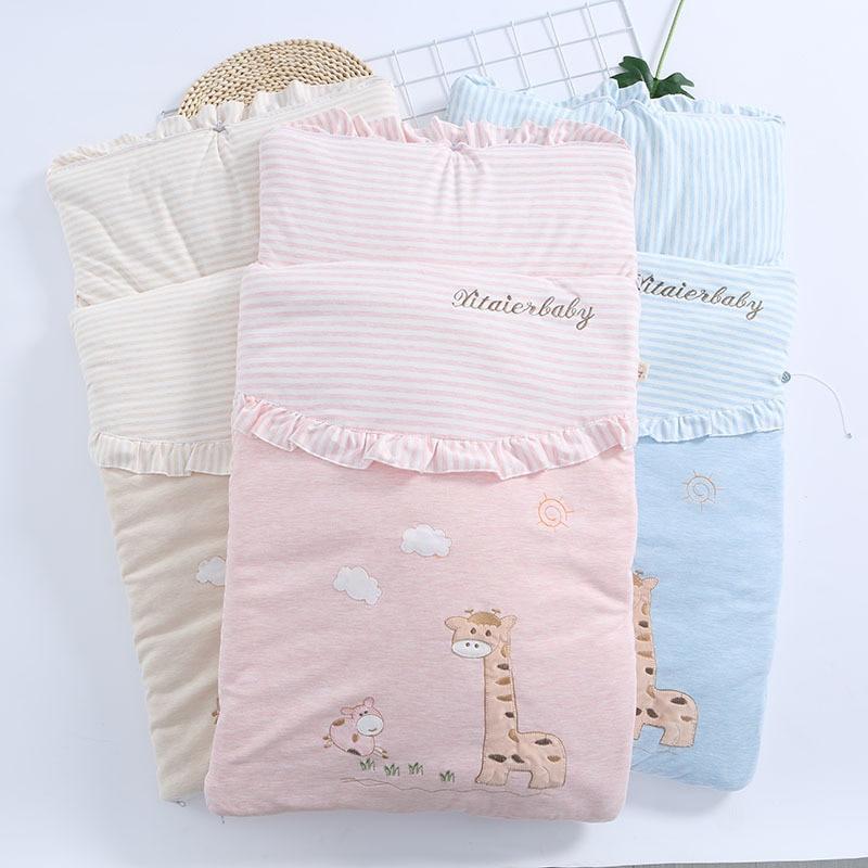 Baby Cotton Breathable Sleeping Bag Baby Cartoon Pattern Wrap Baby Multi-purpose Hug Is Sleeping Bag Baby Sleeping Bag