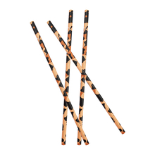 20pcs Leopard Paper Straws Adult Party Decor Disposable Tableware Eco-friendly Green Pink Brown Straw
