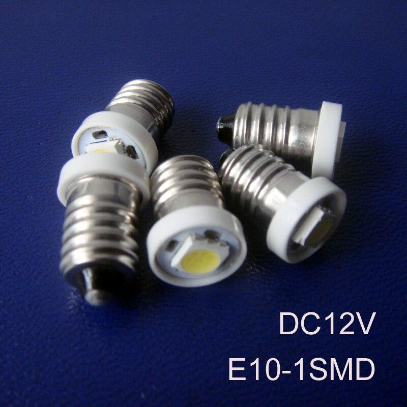 High quality 5050SMD E10 led lighting 12V E10 led bulb LED Car Signal Light,Indicator Light,Pilot Lamp free shipping 500pcs/lot