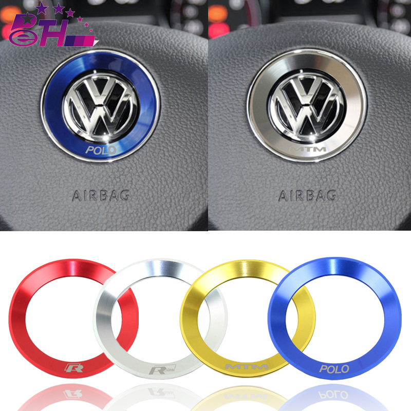 Car steering wheel decoration circle ring sticker covers styling for Volkswagen VW R line Golf 5 6 Polo Passat Jetta GTI Tiguan стоимость