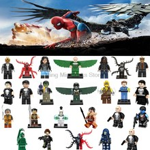 Legoing Super Heroes Figures Toy Spiderman Batman Spider-man Iron Man Toy For Children Deadpool Legoings Marvel Figure Blocks(China)