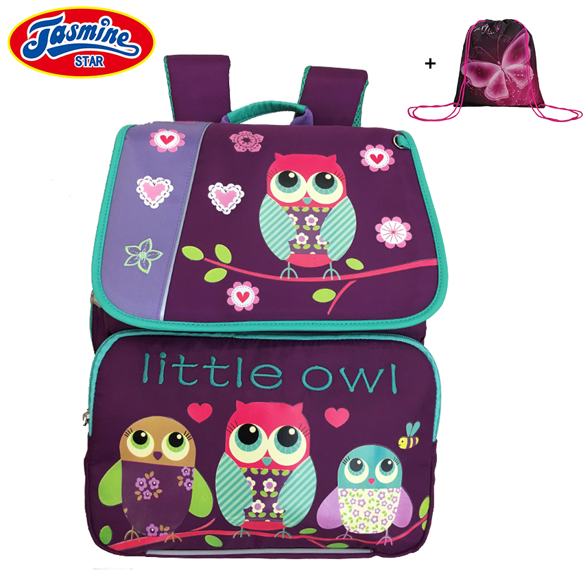 JASMINESTAR Children School Bags Orthopedic Backpacks Waterproof Satchel Kids Cartoon Owl School Bags For Girls Mochila Escolar new waterproof oxford school bags for girls orthopedic children cartoon backpack cute birds school backpacks mochila escolar