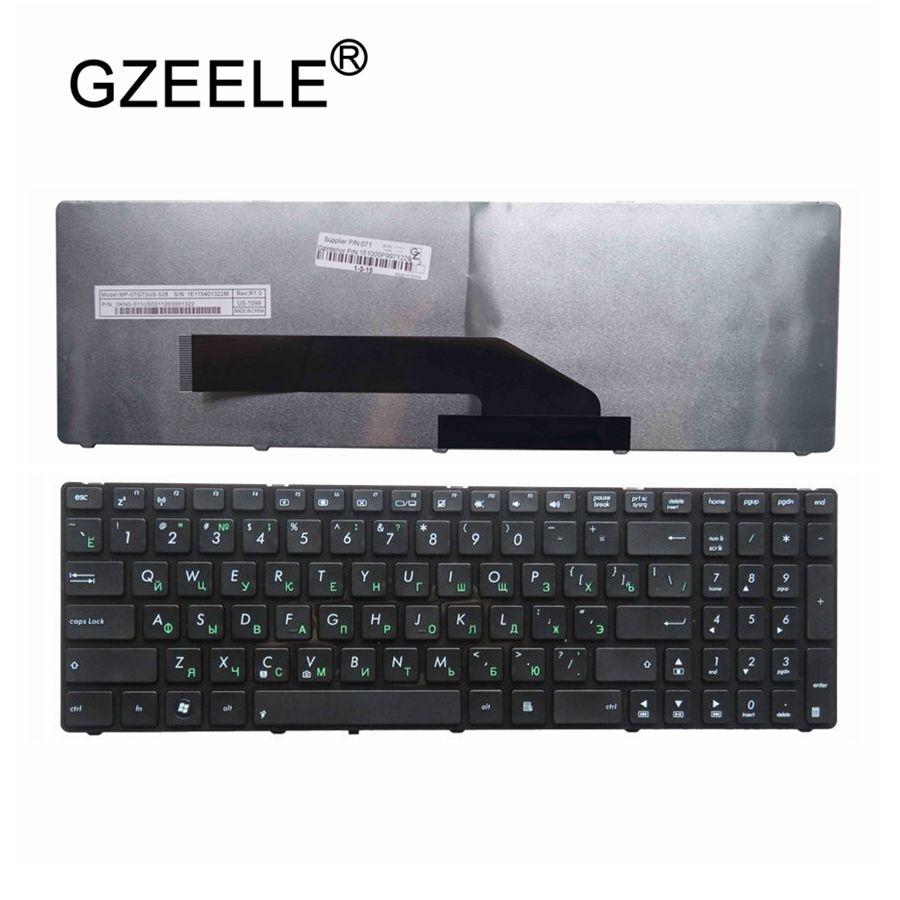 GZEELE NEW Russian Laptop Keyboard FOR ASUS K51AC K51AE K61IC K70 K70AC K70AE K62F K62JR K62F RU Layout With Frame Keyboard