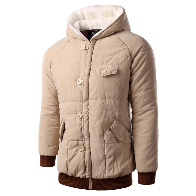 2017 Brand Korean Men Fashion Warm Parkas Size M-2XL Patchwork Design Cotton Style Young Men Winter Cotton Jacket 14HZ05