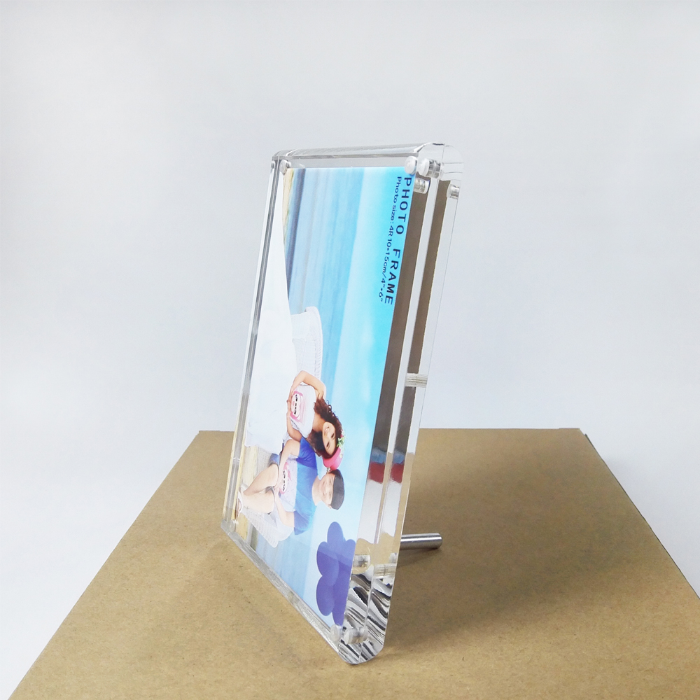 Free standing screw lucite perspex photo picture frame holders for free standing screw lucite perspex photo picture frame holders for certificatediploma or pictures pf022 in frame from home garden on aliexpress jeuxipadfo Image collections