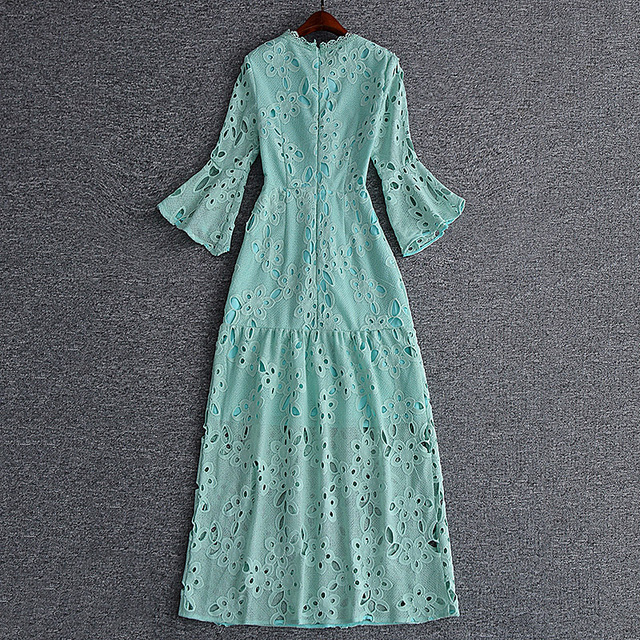 Sexy Girls Long Hollow Out Lace Dresses