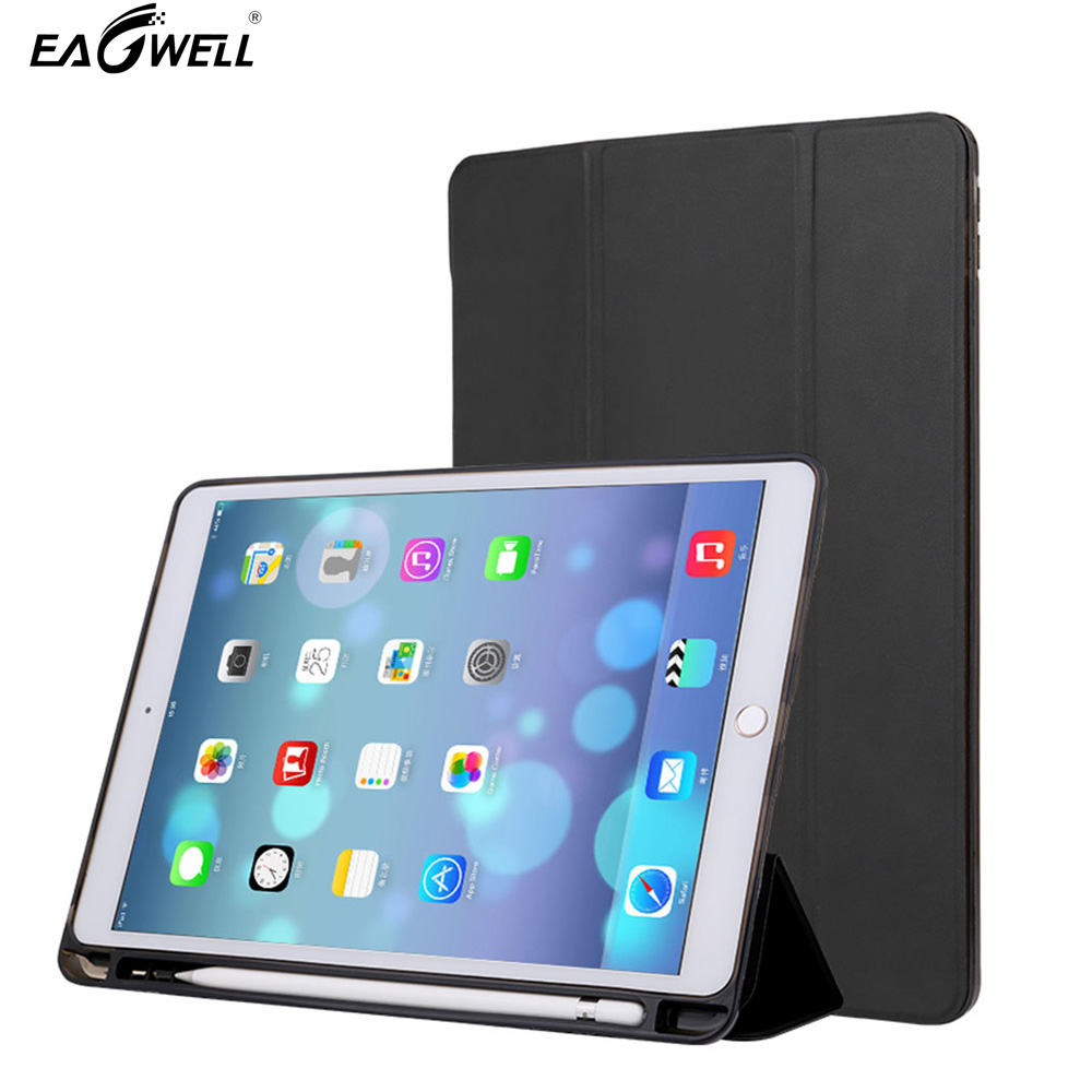 Case Cover For ipad 9.7 2017/2018 PU Leather Case With Pen Slot Holder Flip Stand Smart Shell Skin Funda For ipad 9.7 2017 flip left and right stand pu leather case cover for blu vivo air
