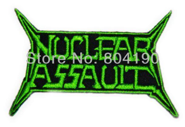 นิวเคลียร์โจมตีGRโลหะหนักวงดนตรีเหล็กบน/เย็บในแพทช์T ShirtโอนAPPLIQUE MOTIFพังก์ร็อกตรา-ใน แผ่นแปะ จาก บ้านและสวน บน   1