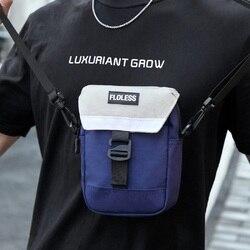 Мужская маленькая сумка через плечо, мини-сумка, спортивный бренд, хип-хоп, женская сумка для дискотеки, женский маленький мобильный телефон...