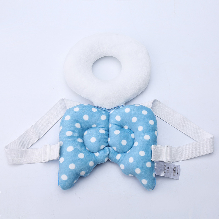 Cut Baby Head Protective Pad Children Angel Wings Head Pillow Baby Toddler Head Protective Pad Cushion Toys