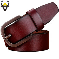 Genuine Leather Belt Men High Quality Cowhide Belts Man Casual Designer Strap For Jeans Cowboy Wide