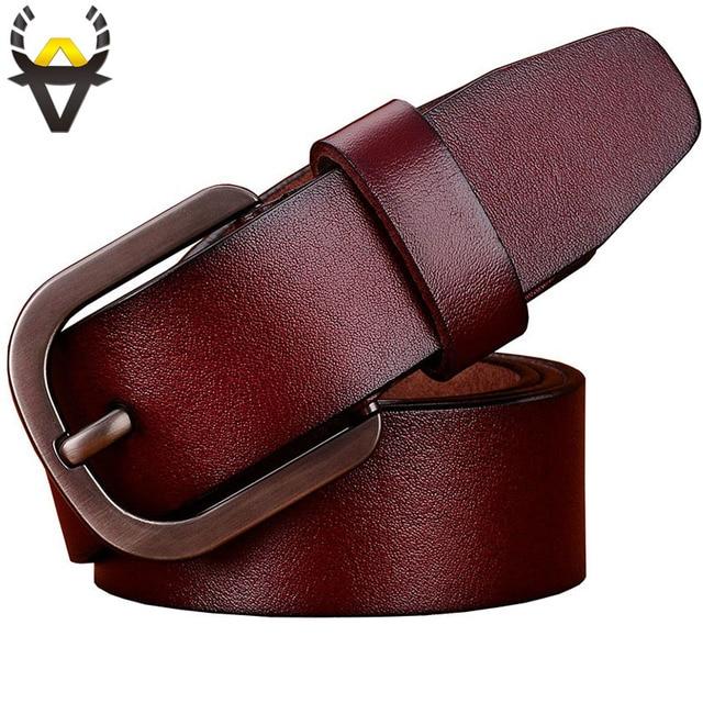 Véritable ceintures en cuir hommes Casual designer Large boucle Ardillon ceinture  homme Haute qualité deuxième couche 956c8773d43