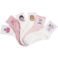 OLN EU36 46 Fashion Femme Ulzzang Tiger Cartoon Character Women Funny Socks Cute Socks 5 Pairs