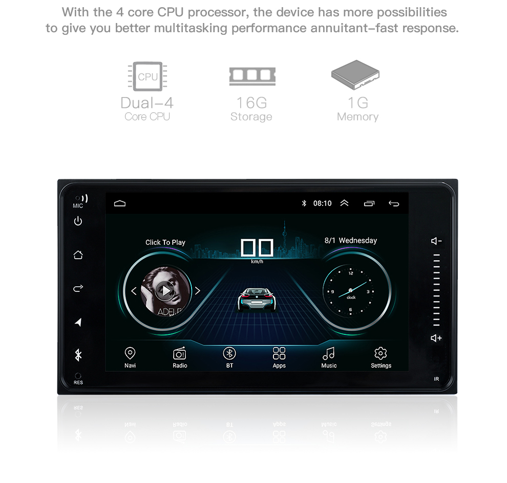 Newest Android 8.1 car dvd for toyota corolla 2 Din Universal car radio with navigation Bluetooth Wifi car stereo gps player (6)