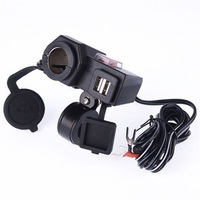 New Dual USB Power Port Motorcycle Waterproof Lighter Charger Bracket For Honda Hot Selling