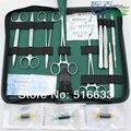 SG POST Frete grátis de costura saco/pacote de sutura cirúrgica kits set incluindo tesouras médicas fórceps agulha titular