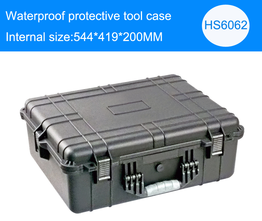 Tool case toolbox suitcase Impact resistant sealed waterproof plastic case equipment box camera case Meter box with pre-cut foam tool case gun suitcase box long toolkit equipment box shockproof equipment protection carrying case waterproof with pre cut foam