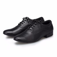 Men Genuine Leather Dance Shoes Heel High 2 5cm Tango Latin Ballroom Salsa Jazz Dance Shoes