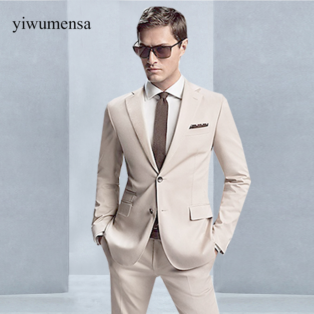 Online Shop 2018 Business Men Suit Custom Made Bespoke Classic Gray ...