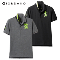 Giordano Men Polo Shirt 2 Pack Embroidered Pattern Fashion Polo Men Stretchy Short Sleeve Polos Para Hombre Brand Summer Tops