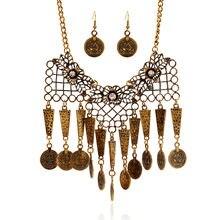 Lzhlq богемное стильное винтажное ожерелье с кисточками для