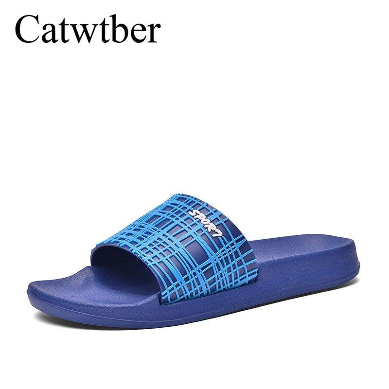 slip Pantoufles Respirant black D'été Chaussures Diapositives gray Appartements Blue Plage Intérieur De Non Designer Mens Hommes En Catwtber Occasionnels Caoutchouc qwpBUZpI