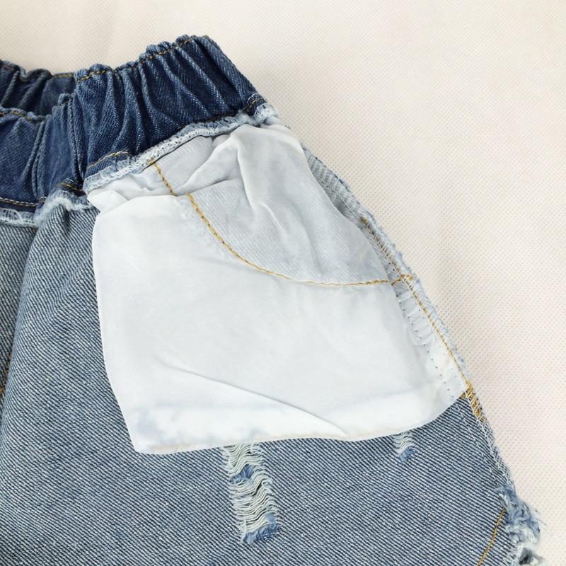 Mutter & Kinder Shorts Neue Sommer Kleine Mädchen Spitze Shorts Elastische Taille Denim Baumwolle Kurze Hosen Für Mädchen Kinder Jeans Shorts Kinder Kleidung 141