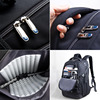 Kingsons Business Fashion Backpack for Men Nylon Waterproof w/Rain Cover 15.6/17.3 inch Shockproof Notebook Computer Laptop Bag 5