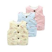 Nouveau-né Bébé Hiver Coton Gilet Garçon Fille Épaissir Doux Gilet Enfants Vêtements