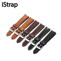 Black Brown Coffee 18mm To 22mm Genuine Calf Leather Watch Strap Silver Pin Buckle For Omega