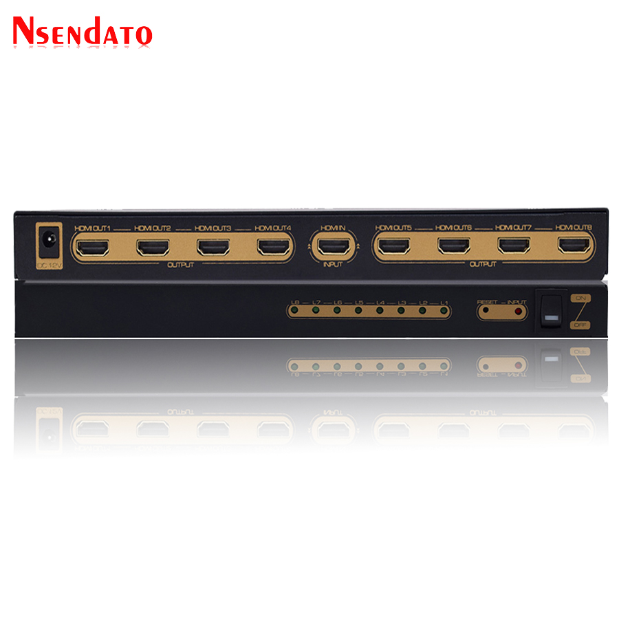 1 In 8 Out 4K HDR HDMI Splitter Adapter 1080P 4Kx2K 60Hz HDMI Switcher Converter 1X8 Support HDCP2.2 Monitors Projector HDTV1 In 8 Out 4K HDR HDMI Splitter Adapter 1080P 4Kx2K 60Hz HDMI Switcher Converter 1X8 Support HDCP2.2 Monitors Projector HDTV