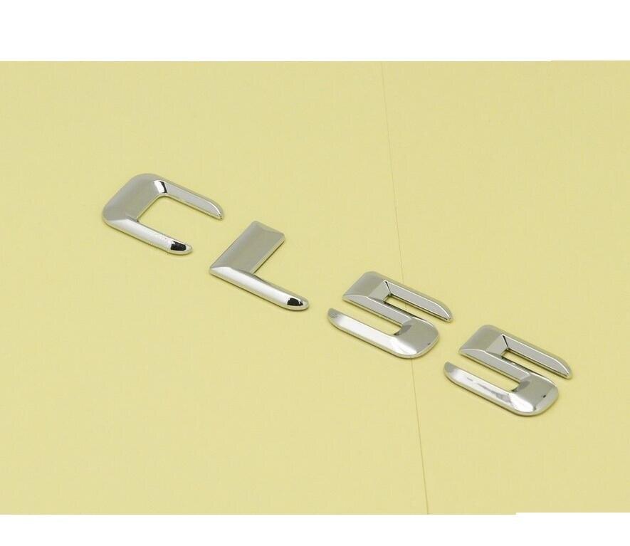 Black Number Letters Trunk Emblem Emblems Badges for Mercedes Benz AMG CL55